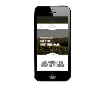 Weinbau Reichert Smartphone